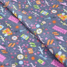 "Tissu coton motif mode ""Going In Style"" - Gris - Blend Fabrics ® Blend Fabrics ® - Tissus - 1"