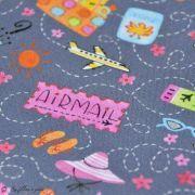 "Tissu coton motif mode ""Going In Style"" - Gris - Blend Fabrics ® Blend Fabrics ® - 3"