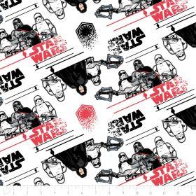 Tissu coton STARWARS ™ Kylo Ren - Blanc, noir et rouge Camelot Fabrics ® - 1
