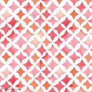 Tissu coton satinette aquarelle graphique  - Rouge - Bio - CLOUD9 ® Cloud9 Fabrics ® - Tissus BIO - 3