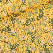 Tissu de lycra SUMMER FLOWERS motif fleurs - Jaune et vert - See You At Six ® See You At Six - 1