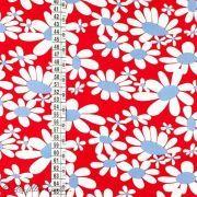 Tissu coton motif fleurs marguerite - Rouge Autres marques - 2