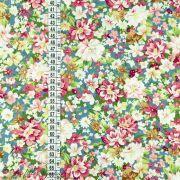 Tissu coton motif fleurs Autres marques - 4