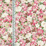 Tissu coton motif fleurs Autres marques - 2
