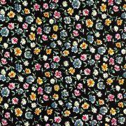 Tissu coton motif fleurs Autres marques - 3