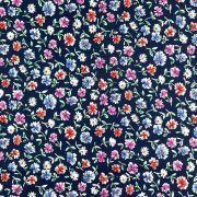 Tissu coton motif fleurs