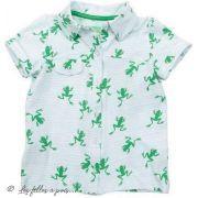 "Tissu jersey motif grenouilles ""Frog"" - Blanc et vert - Oekotex et Bio - Lily balou ® Art Gallery Fabrics ® - Tissus - 4"
