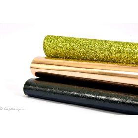 Coupons simili cuir - Doré et noir - Lot de 3 Autres marques - 1