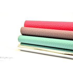 Coupons de tissu simili cuir - Argenté, mauve, bleu et rose - Lot de 4 Autres marques - 1