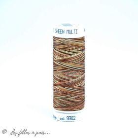 Fil à broder multicolore Polysheen 200m - Mettler ® - marron 9302 METTLER ® - Fils à coudre et à broder - 1