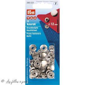 Bouton pression anorak SANS outil - 12mm - Argenté - Prym ® Prym ® - 1