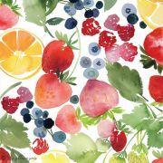 Tissu enduit ou laminé motif fruits - Multicolore - BIO - Cloud 9 ® Cloud9 Fabrics ® - Tissus BIO - 2