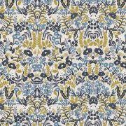 "Tissu coton canvas motif fleuri ""Menagerie"" - Cotton and steel ® Cotton + Steel Fabrics ® - 5"