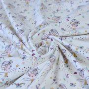 """Tissu jersey coton motif fée """"Corasie"""" - Blanc et rose - Oeko-Tex ® Domotex ® - 2"""