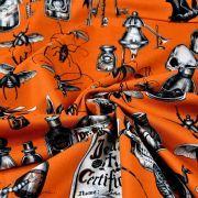 "Tissu coton motif insecte et tête de mort ""Dark Magic"" - Henry Alexander ® Alexander HENRY Fabrics ® - Tissus - 4"