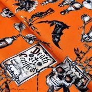 "Tissu coton motif insecte et tête de mort ""Dark Magic"" - Henry Alexander ® Alexander HENRY Fabrics ® - Tissus - 1"