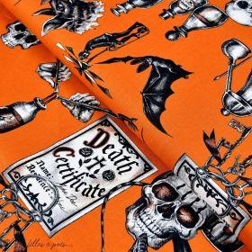 "Tissu coton motif insecte et tête de mort ""Dark Magic"" - Henry Alexander ® Alexander HENRY Fabrics ® - 1"