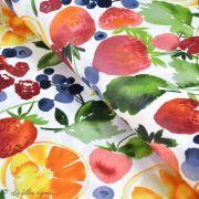 Tissu enduit ou laminé motif fruits - Multicolore - BIO - Cloud 9 ® Cloud9 Fabrics ® - Tissus BIO - 1