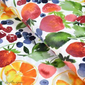 Tissu enduit ou laminé motif fruits - Multicolore - BIO - Cloud 9 ® Cloud9 Fabrics - 1