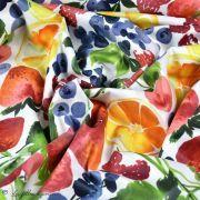 Tissu enduit ou laminé motif fruits - Multicolore - BIO - Cloud 9 ® Cloud9 Fabrics ® - Tissus BIO - 4