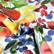 Tissu enduit ou laminé motif fruits - Multicolore - BIO - Cloud 9 ® Cloud9 Fabrics ® - Tissus BIO - 5