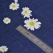 "Tissu coton denim motif fleurs ""Denim Prints"" - Bleu jean - Oekotex ® - AGF ® Art Gallery Fabrics ® - 5"