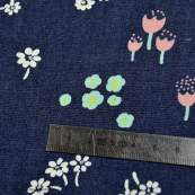 "Tissu coton denim motif fleurs ""Denim Prints"" - Bleu jean - Oekotex ® - AGF ® Art Gallery Fabrics ® - 4"