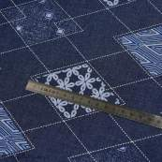 "Tissu coton denim motif losange ""Denim Prints"" - Bleu jean - Oekotex ® - AGF ® Art Gallery Fabrics ® - 5"