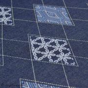 "Tissu coton denim motif losange ""Denim Prints"" - Bleu jean - Oekotex ® - AGF ® Art Gallery Fabrics ® - 2"