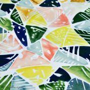 Tissu coton satinette aquarelle graphique  - Multicolore - Bio - CLOUD9 ® Cloud9 Fabrics ® - Tissus BIO - 2