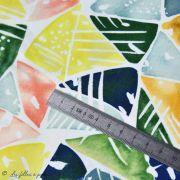 Tissu coton satinette aquarelle graphique  - Multicolore - Bio - CLOUD9 ® Cloud9 Fabrics ® - Tissus BIO - 5
