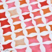 Tissu coton satinette aquarelle graphique - Rouge - Bio - CLOUD9 ® Cloud9 Fabrics ® - Tissus BIO - 2