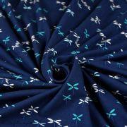 """Tissu jersey motif papillon """"Everlasting""""de Sharon Holland - Bleu - Oekotex - AGF ® Art Gallery Fabrics ® - 3"""