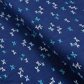 """Tissu jersey motif fleurs """"Everlasting"""" de Sharon Holland - Bleu - Oekotex - AGF ® Art Gallery Fabrics ® - Tissus - 1"""