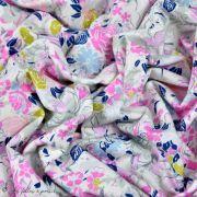 "Tissu jersey motif fleurs ""Fusion Etheral"" - Bleu - Oekotex - AGF ® Art Gallery Fabrics ® - Tissus - 3"