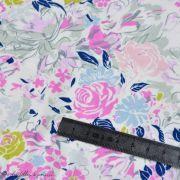 "Tissu jersey motif fleurs ""Fusion Etheral"" - Bleu - Oekotex - AGF ® Art Gallery Fabrics ® - Tissus - 4"