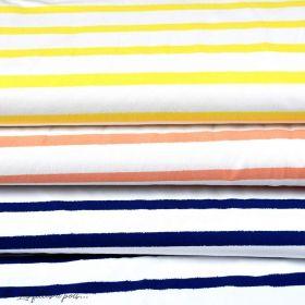 "Tissu jersey motif rayures ""Stripes"" - Oekotex - AGF ® Art Gallery Fabrics ® - Tissus - 1"