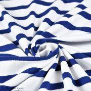 "Tissu jersey motif rayures ""Stripes"" - Oekotex - AGF ® Art Gallery Fabrics ® - 10"