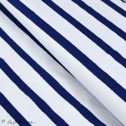 "Tissu jersey motif rayures ""Stripes"" - Oekotex - AGF ® Art Gallery Fabrics ® - 9"