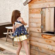 "Tissu jersey motif rayures ""Stripes"" - Oekotex - AGF ® Art Gallery Fabrics ® - 15"