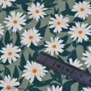 "Tissu jersey motif fleurs ""Her et History"" de Bonnie Christine - Vert et orange - Oekotex - AGF ® Art Gallery Fabrics ® - 5"
