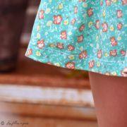 """Tissu jersey motif fleurs """"Wind Melody Carmin"""" - Vert menthe - AGF ® Art Gallery Fabrics ® - 5"""