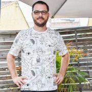 """Tissu jersey motif dessin esprit Picasso """"Ethno"""" - Ecru et noir - Oekotex - AGF ® Art Gallery Fabrics ® - Tissus - 8"""