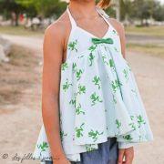 "Tissu jersey motif grenouilles ""Frog"" - Blanc et vert - Oekotex et Bio - Lily balou ® Art Gallery Fabrics ® - Tissus - 8"
