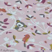 "Tissu jersey coton motif koala ""Safy"" - Rose - Oeko-Tex ® Domotex ® - 3"
