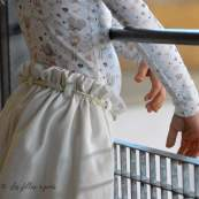 """Tissu jersey coton motif souris """"Corissou"""" - Blanc et rose - Oeko-Tex ® Autres marques - 6"""