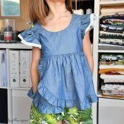 "Tissu coton denim ""Denim Prints"" - Oekotex ® - AGF ® Art Gallery Fabrics ® - 8"