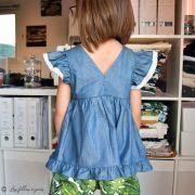 "Tissu coton denim ""Denim Prints"" - Oekotex ® - AGF ® Art Gallery Fabrics ® - 9"