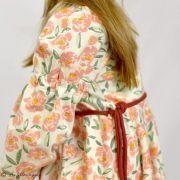 "Tissu jersey motif fleurs ""The Open Road"" de Bonnie Christine - Ecru et rose clair - Oekotex - AGF ® Art Gallery Fabrics ® - Tis"
