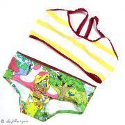 """Tissu jersey coton schtroumpfette """"Smurfette's Garden"""" - Vintage In My Heart - Oeko-Tex ® Vintage In My Heart ® - Tissus BIO - 2"""